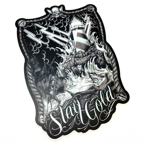 Stay Gold Shipwreck Die Cut Sticker