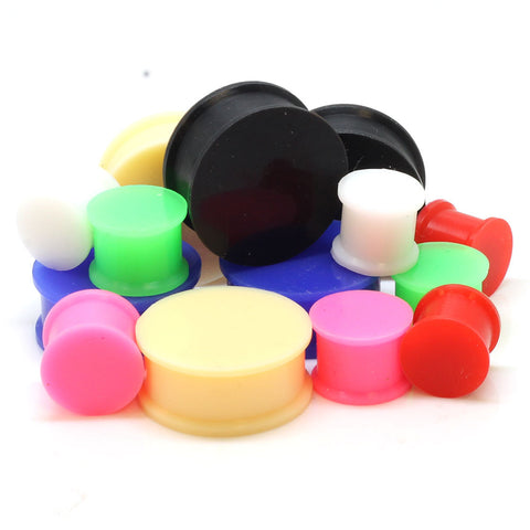 Sale  Double Flared Silicone Solid Ear Plugs