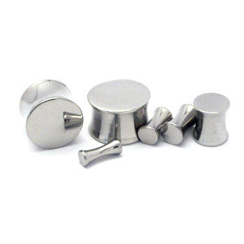 Stainless Steel Solid Double Flared Plugs