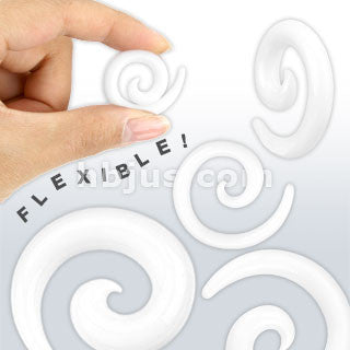 SALE-White Silicone Flexible Spiral