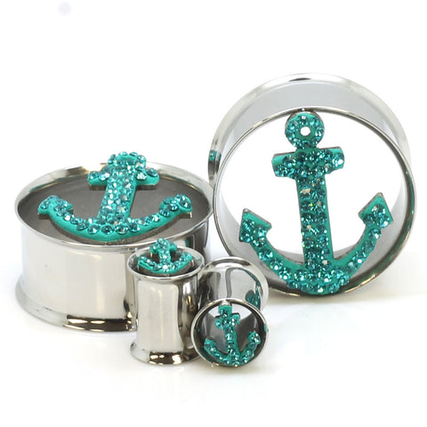 Sale -  Stainless Steel Tiffany Anchor Ear Gauges