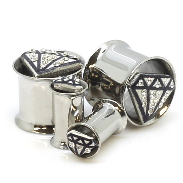 Stainless Steel Tiffany Diamond Ear Gauges