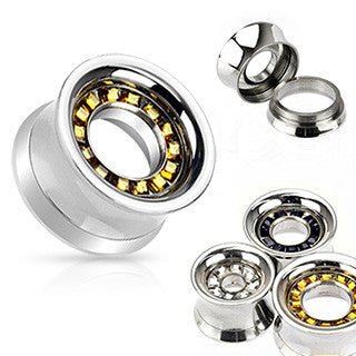 Sale - Stainless Steel Tunnels With Square Gems