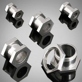 Stainless Steel Hexagon Flesh Tunnels