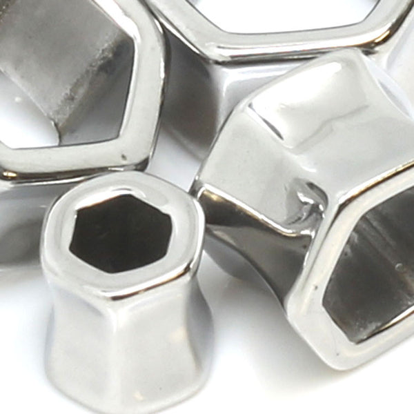 Stainless Steel Magnum Hexagon Ear Tunnels