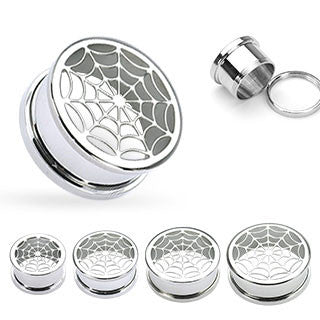 Stainless Steel Spiderweb Flesh Tunnels