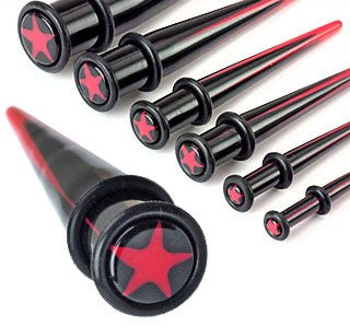 Acrylic Star Logo Ear Tapers