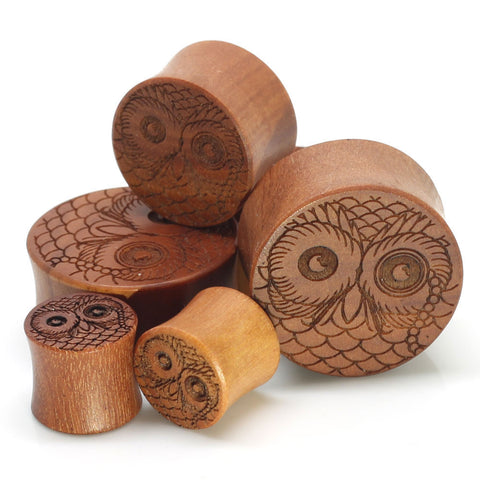 SALE- Stay Gold Organic Monocle Owl Ear Plugs