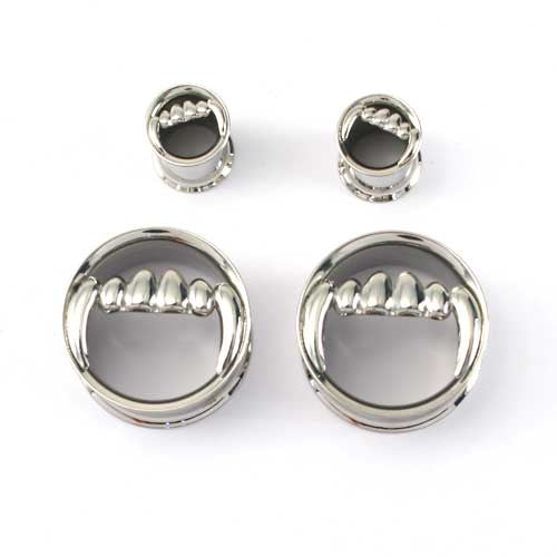 Stainless Steel Double Flared Fang Plugs