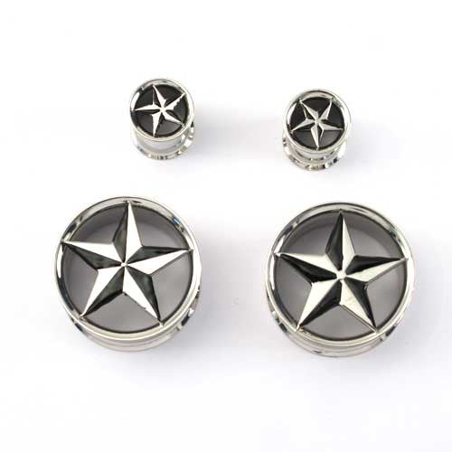 Stainless Steel Double Flared Nautical Star