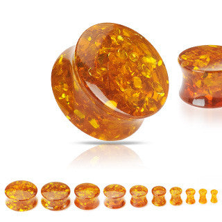 Amber Ear Gauges - BodyJewelrySource