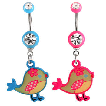 Tweet Tweet Navel Ring