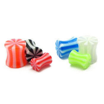 Acrylic Beach Double Flared Ear Plugs