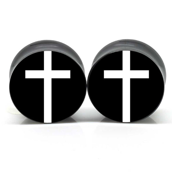 White Cross Ear Plugs