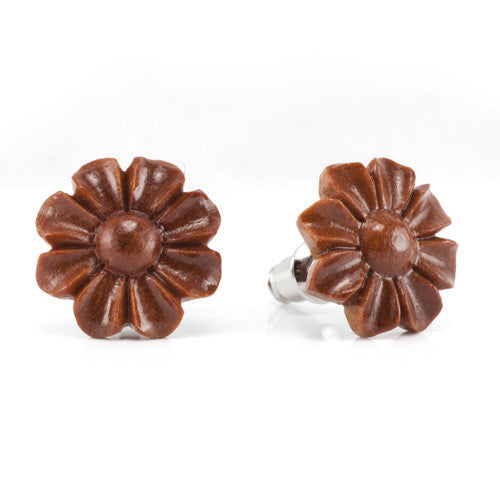 Wild Flower Sabo Studs Earrings