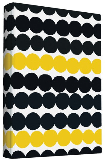 Small Cloth Notebook with Marimekko Dots Pattern