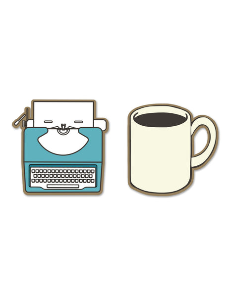 Writer's Enamel Pin Set