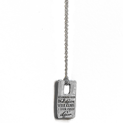 "Emily Dickinson Necklace ""I Open Every Door"""