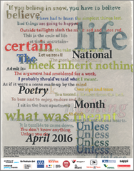 National Poetry Month Poster (2016)