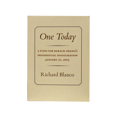 """One Today"" by Richard Blanco"
