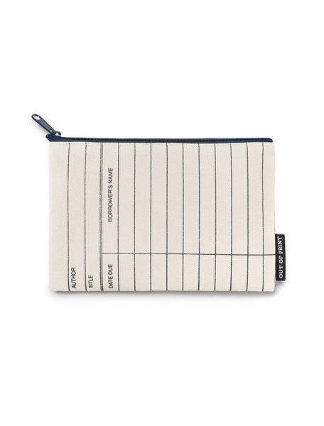 Library Card Pencil Pouch (Natural)