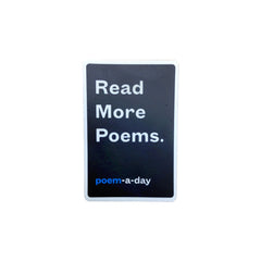 """Read More Poems"" Poem-a-Day Sticker"