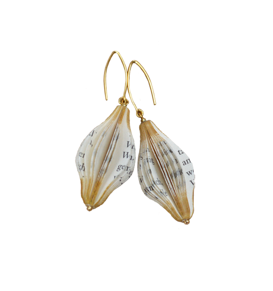 Gold-dusted Spindle Earrings