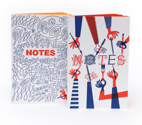 Klas Fahlen Letterpressed Notebooks (Set of 2)