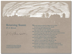 "W. S. Merwin Broadside - ""Returning Season"" (Signed)"