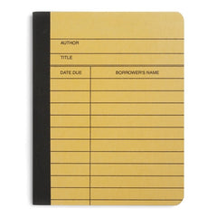 Library Card Composition Notebook