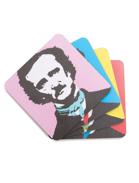 Pop Art Poe Coasters