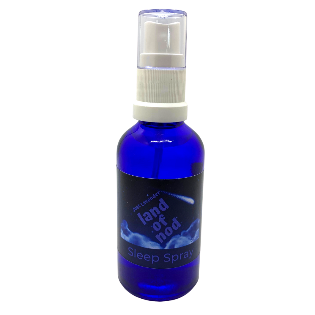 Our Lavender land of Nod sleep spray is suitable for over two's and can help their busy little minds relax into a peaceful sleep