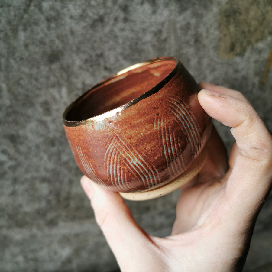 Gold Banded Vessel