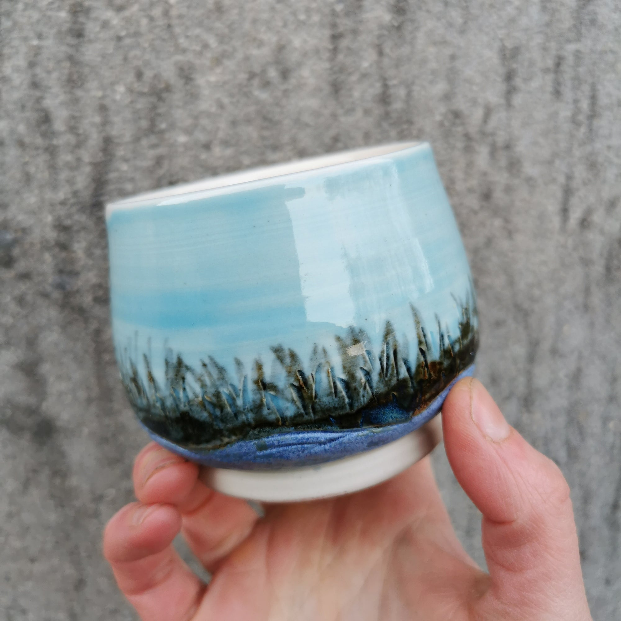 Grasses And Blue Sky Vessel