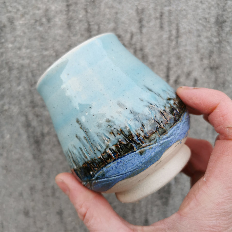 Blue Skies and Grasses Vessel