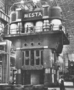 "HO ""Mesta 50"" Forging Press Stationary Crosshead Casting Model Heavy Press Load"