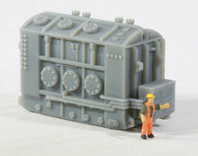 "Load image into Gallery viewer, N Scale High Voltage Transformer Base ""Hamilton"" for Model Railroad"
