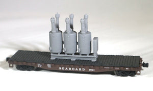 N Scale Electric Substation Oil Circuit Breaker Model Railroad Flatcar Load