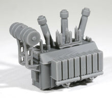 Load image into Gallery viewer, N Scale 138kV Substation Power Transformer Model Railroad Flatcar Freight Load