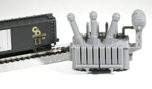 N Scale 138kV Substation Power Transformer Model Railroad Flatcar Freight Load