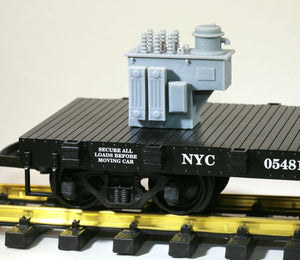 G Scale 11kV Step Voltage Regulator Model Railroad Flatcar Load Freight