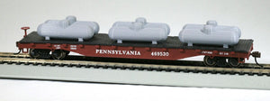 HO Scale 500gal Propane Tank Model Railroad Accessory 6-Pack Grey Color