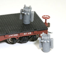 Load image into Gallery viewer, HO Scale 8-Pack Railroad Pole Transformer Model Railroad Freight Flatcar Load