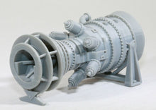 Load image into Gallery viewer, O Scale 15MW Industrial Gas Turbine Model Railroad Electric Plant Flatcar Load
