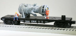 O Scale 15MW Industrial Gas Turbine Model Railroad Electric Plant Flatcar Load