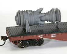 Load image into Gallery viewer, HO Scale 15MW Industrial Gas Turbine Model Railroad Electric Plant Flatcar Load