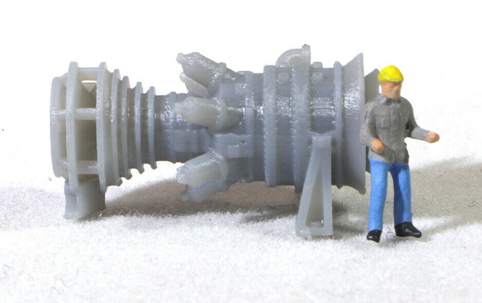 Z Scale 15MW Industrial Gas Turbine Model Railroad Grey