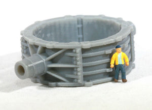 N Scale Toroidal Steel Mill Casting Railroad Well Flatcar Load Mesta New Castle