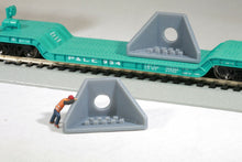 Load image into Gallery viewer, HO Scale Pair of Precast Concrete Wingwall Drainage Units for Culvert or Flatcar