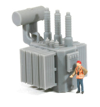 Load image into Gallery viewer, HO Scale Railroad High Voltage Oil Filled Power Transformer Model [High Panel]